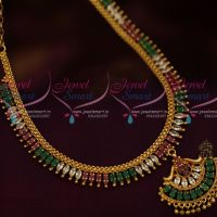 Multi Colour AD Fashion Jewellery Low Price Simple Design Marquise South Indian Handmade Design
