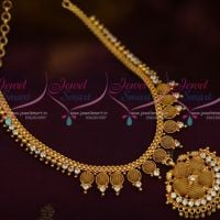Hollow Net Design Fancy Low Price Short Necklace Daily Wear Jewellery Online AD White Stones