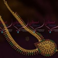 Ruby Emerald AD Kerala Style Imitation Ornaments Beads Design Jewellery Online