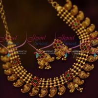 Beads Mango Design Gheru Gold Plated Colour Real Kemp Screw Back Jhumka Offer Price Jewellery Online