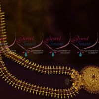 Kerala Style Ruby AD Long Necklace South Indian Fashion Jewellery Imitation