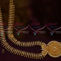 Kerala Style White AD Long Necklace South Indian Fashion Jewellery Imitation