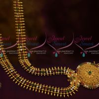 Kerala Style Multi Colour AD Long Necklace South Indian Fashion Jewellery Imitation