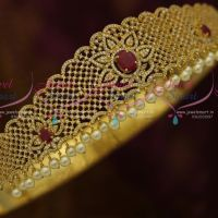 Kids Girls Jewellery Ruby White Ornaments Small Vaddanam 21 To 27 Inches Latest Designs Online