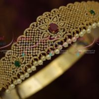 Kids Girls Jewellery Ruby Emerald White Small Vaddanam 21 To 27 Inches Latest Designs Online