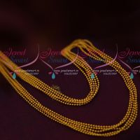 Small Beads Bunch Matte Gold Finish 17 Inches Flexible Chain Latest Jewellery