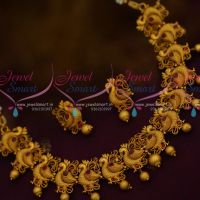 Latest Trendy Matte Gold Imitation Jewellery Set Ruby Stones Shop Online