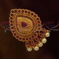 Fancy Design Handmade Saree Pins Matching Accessory Matte Gold Jewellery