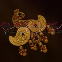 Peacock Latest Design Handmade Saree Pins Matching Accessory Matte Gold Jewellery