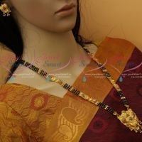 Black Beads Nalla Pusalu Haram 23 Inches One Gram Gold Traditional Jewellery Designs Online