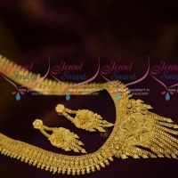 Latest One Gram Gold Forming 100Mg Haram Latest Traditional Jewellery Online