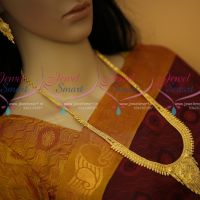 One Gram Gold Forming 100Mg Plated Haram Latest Traditional South Indian Jewellery Online
