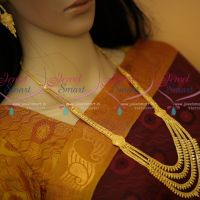 South Indian Beautiful Haram Design Multi Layer Forming Gold Plated Jewellery Online