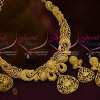 Forming Hollow Necklace Light Weight Gold Finish Jewellery Imitation Collections