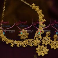 Latest Forming Necklace Light Weight Gold Finish Jewellery Imitation Collections
