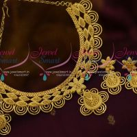 Wide Rich Matte Gold Look Floral Design One Gram Jewellery Collections Online