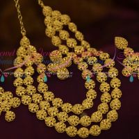 Multi Strand Plain Gold Matte Forming Necklace Latest Trendy Jewellery Online
