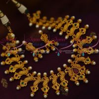 Handmade Imitation Jewellery South Indian Traditional Peacock Design Matte Finish