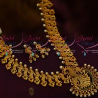 Broad Handmade AD Imitation Jewellery South Indian Traditional Design Matte Finish