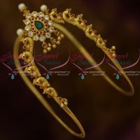 AD Ruby Emerald Stones Peacock Gold Design Vanki South Indian Bridal Jewellery Online
