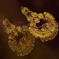 Chand Bali Peacock Design Intricate Handmade Antique Gold Earrings One Gram Jewellery Online