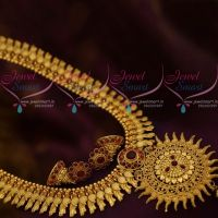 Parrot Design Broad Haram Suryan Pendant South Indian Jewellery Collections Shop Online