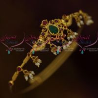 Latest  AD Stones South Indian Wedding Jewellery Ornaments Round String Vanki Online