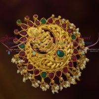 Temple Jewellery Gold Plated Ruby Emerald Stones Choti Accessory Imitation Collections Latest Online