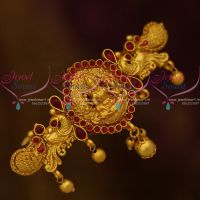 Matte Gold Plated Temple Hair Clip Latest Traditional Jewellery Designs Online