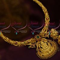 Temple Jewellery Handmade Pipe Nakshi Work Necklace Latest Traditional Designs