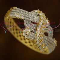AD Stones Fashion Jewellery Clip Open Marquise Twisted Kada Latest Online