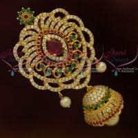 AD Hair Accessory Rakodi Jhumka U Pin Multi Colour Jada Billa Fancy Design