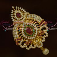 Grand Saree Pins AD Multi Colour Stones Womens Jewellery Accessory Online