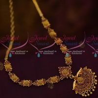 South Indian AD Daily Wear Jewellery Collections Ruby Stones Short Necklace