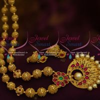 Gold Plated Kemp Beaded Jewellery Small Jhumka South Indian Fashion Latest Designs