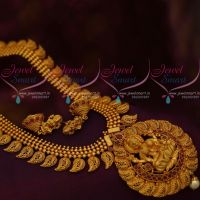Temple South Indian Imitation Jewellery Ornaments Matte Gold Plated Collections