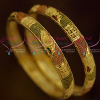 Gold Plated Bangles With Guarantee One Gram Collections Daily Use Fashion