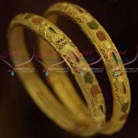 Guaranteed One Gram Gold Bangles Shop Online Latest Fashion Jewellery