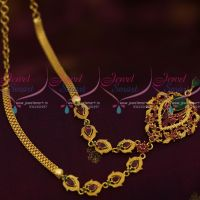 South Indian Jewellery AD Ruby Emerald Daily Wear Fashion Ornaments Online