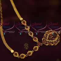 South Indian Jewellery AD Ruby Daily Wear Fashion Ornaments Online