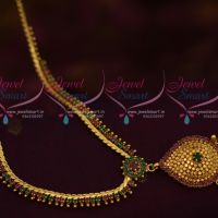 Ruby Emerald AD Beads Design Jewellery Thin Flexible Chain Latest Collections Online