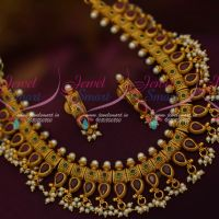 Gutta Pusalu South Indian Fashion Jewellery Pearl Drops Matte Finish Imitation Designs Online