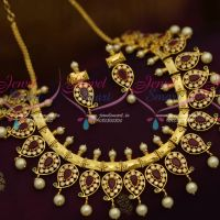 AD Jewellery Ruby Emerald Gutta Pusalu Necklace Latest Semi Precious Collections Online