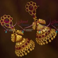Kemp Long Jhumka Beads Design Traditional Gold Design Collections Shop Online