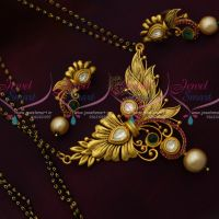 Nalla Pusalu Mala 2 Line Long Mangalsutra Haram One Gram Gold Antique Ornaments