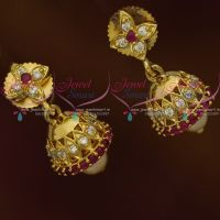 Mini Jhumka Kids Girls Jewellery Ruby White AD Light Weight Collections Online
