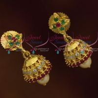 Mini Jhumka Kids Girls Jewellery Ruby Emerald White AD Light Weight Collections Online