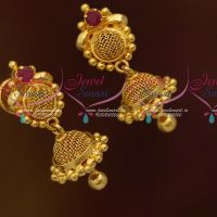 Mini Size Jumki Earrings Screwback South Indian Fashion Jewellery Online