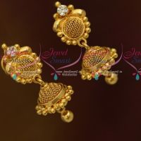 White Mini Size Jumki Earrings Screwback South Indian Fashion Jewellery Online