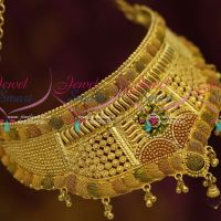 Bridal Jewellery Enamel Colour Finish Low Price Choker Latest Imitaiton Designs